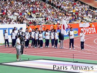 パリ STADE de FRANCE 日本チーム