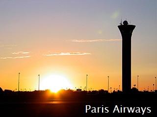 パリ シャルルドゴール空港 夕焼け
