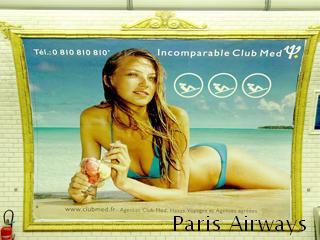 パリ メトロ 広告 club med