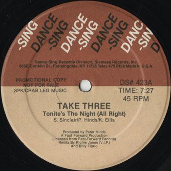 DG_TAKE THREE_TONITES THE NIGHT ALL RIGHT_201407