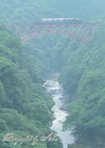 第一白川橋梁にて