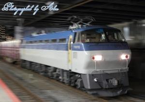 1082レ(=EF66-103牽引):全検明けピカピカ!