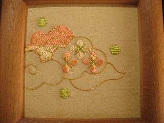 日本刺繍「くも」01