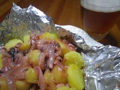 [写真]ジャガイモと塩辛のホイル焼き