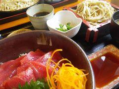 [写真]君津・せいわの鮪のづけ丼定食(ミニそばセット)