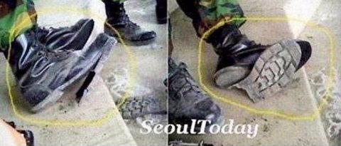 韓国の欠陥軍靴