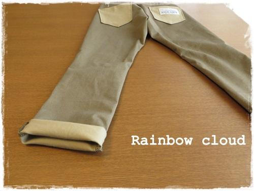 muniニットパンツ裾
