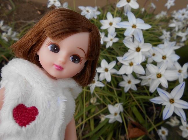 11 リカちゃんと白い花
