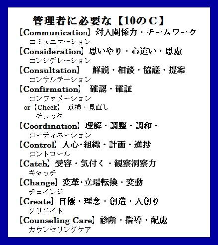 管理者に必要な【C】青