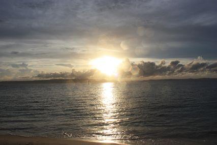 メーギ浜キラキラ夕日