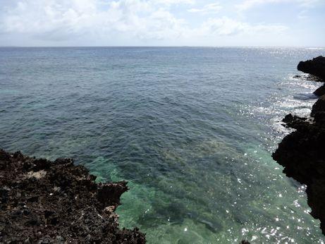 カベール岬キラキラの海