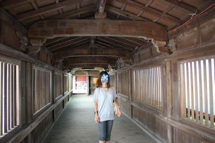 2014july6竹生島舟廊下