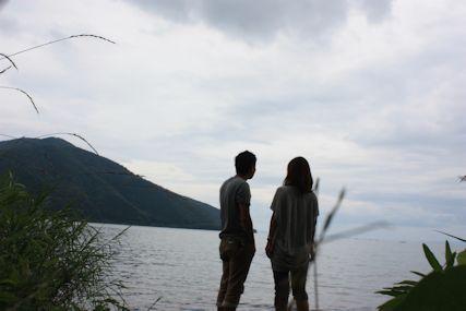 2014july6奥琵琶湖ふたり