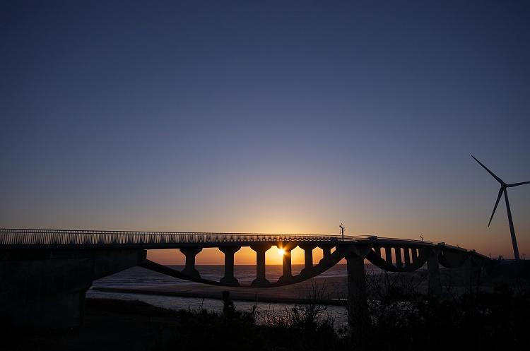 潮騒橋の夕日