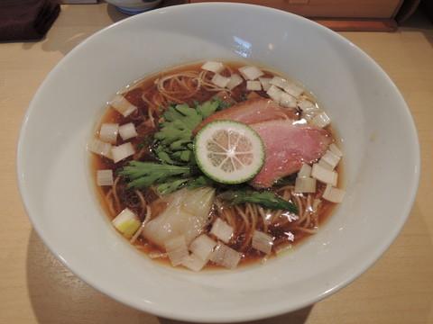 鴨そば(細麺)(900円)