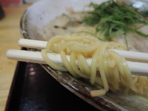 味玉とんこつ醤油らーめんの麺