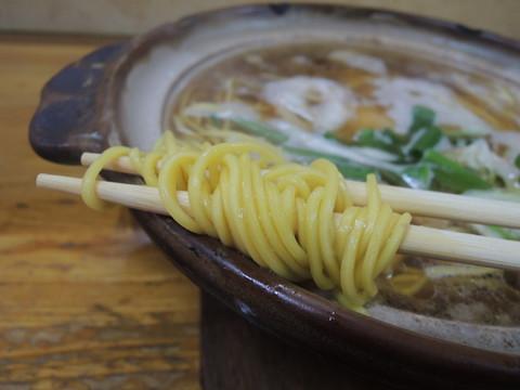 なべ焼ラーメン 普の麺
