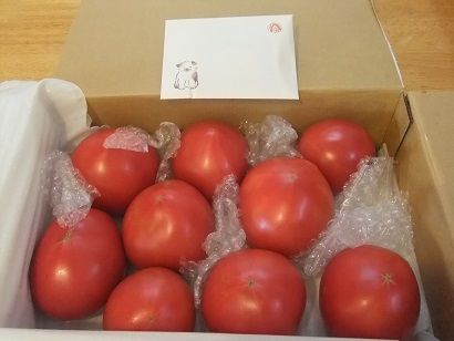 トマトと温かいお気持ち