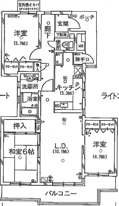 コープ野村パークサイド厚生町間取