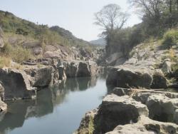 s-桜満開こせ渓谷 こせの滝魚道 CBR250R 14