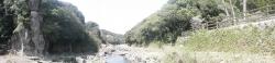 s-桜満開こせ渓谷 こせの滝魚道 CBR250R 15