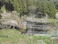 s-桜満開こせ渓谷 こせの滝魚道 CBR250R 16