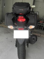 CBR250R シートバッグ サイドバッグ装着9
