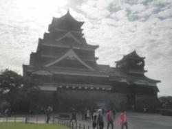 九州一周バイk旅CBR250R 1日目19熊本城