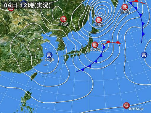 s-439-1 4月6日の天気図
