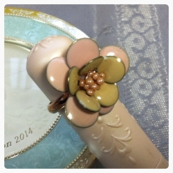 ビーズリング花-5