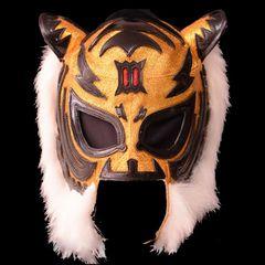 Tiger Mask 001_初代タイガーマスク・セミプロDXマスク「3マーク・金×黒」耳穴付き