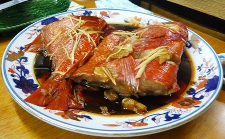 かわせみ:金目鯛煮付け