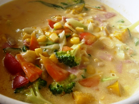 みつ亭:コーンクリームのスープスパ2