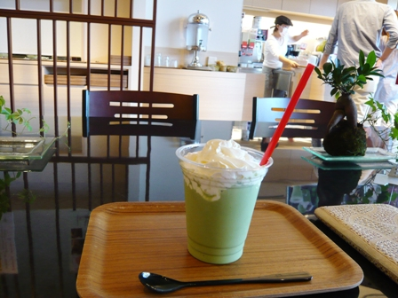 Mannendo Cafe:大和抹茶クリームラテ