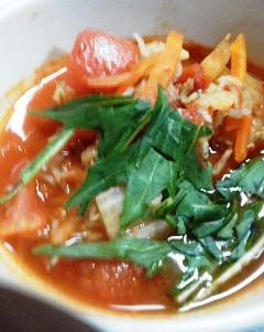 超簡単トマトピリ辛スープ