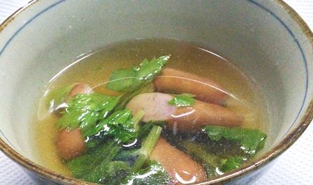セロリの葉スープ