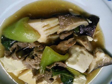 青梗菜とタケノコ煮