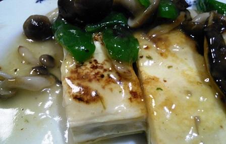 キノコと塩豆腐