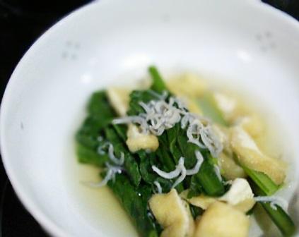 小松菜のじゃこたいたん