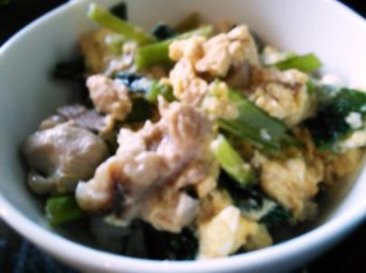 1小松菜と鶏肉丼