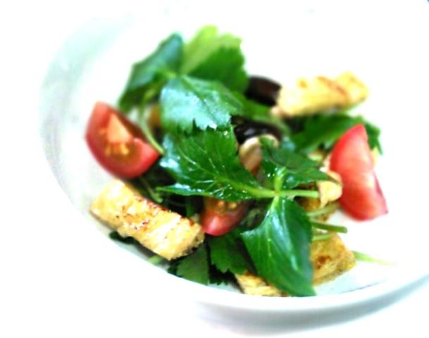 1三つ葉と豆サラダ