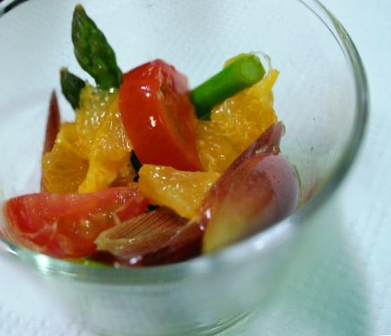 1アスパラと果物のピクルス