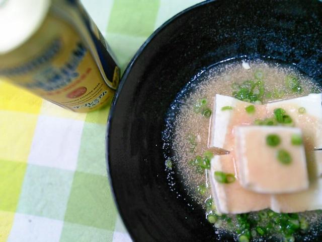 0チーズ豆腐浅漬けタラコ冷やしあんかけ