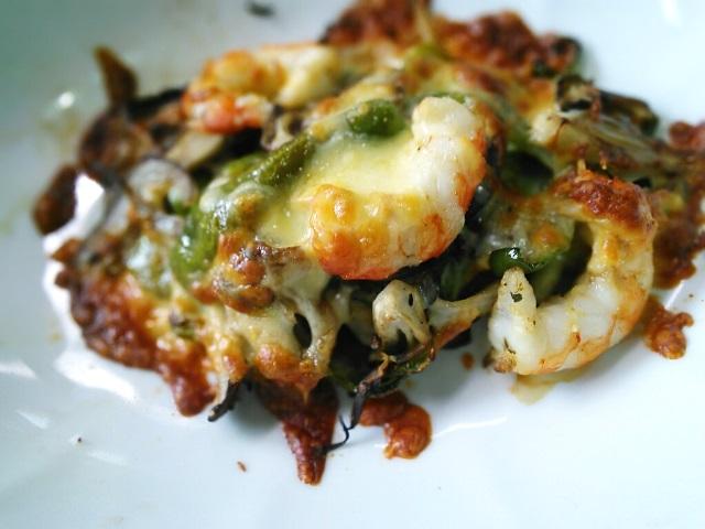 海老と舞茸チーズ焼き1