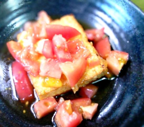 厚揚げの塩トマト煮