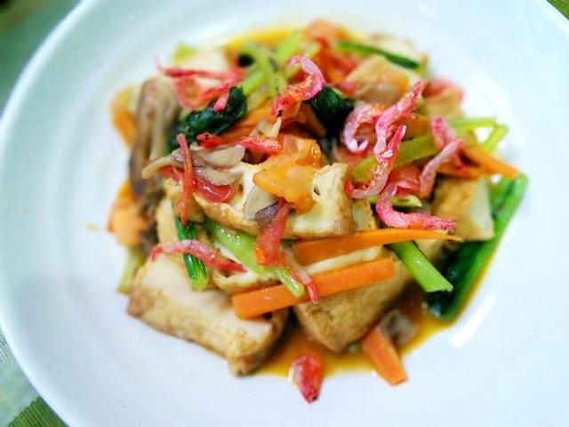 トマト出汁の小松菜炒め煮