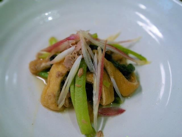 5分で小松菜と油揚げの煮びたし