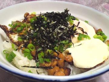 小泉先生焼き納豆丼