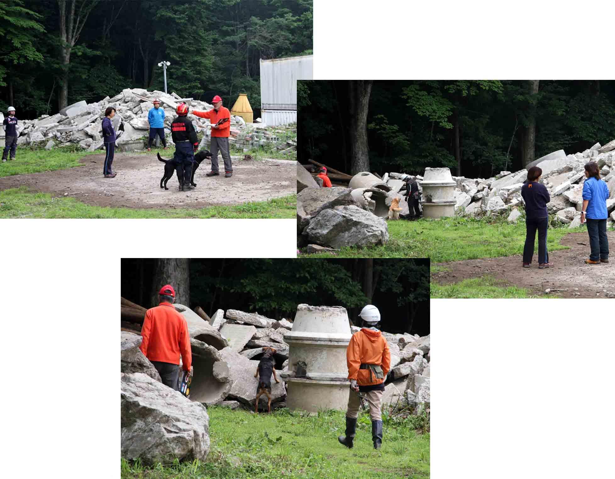 瓦礫訓練施設の中で(20)