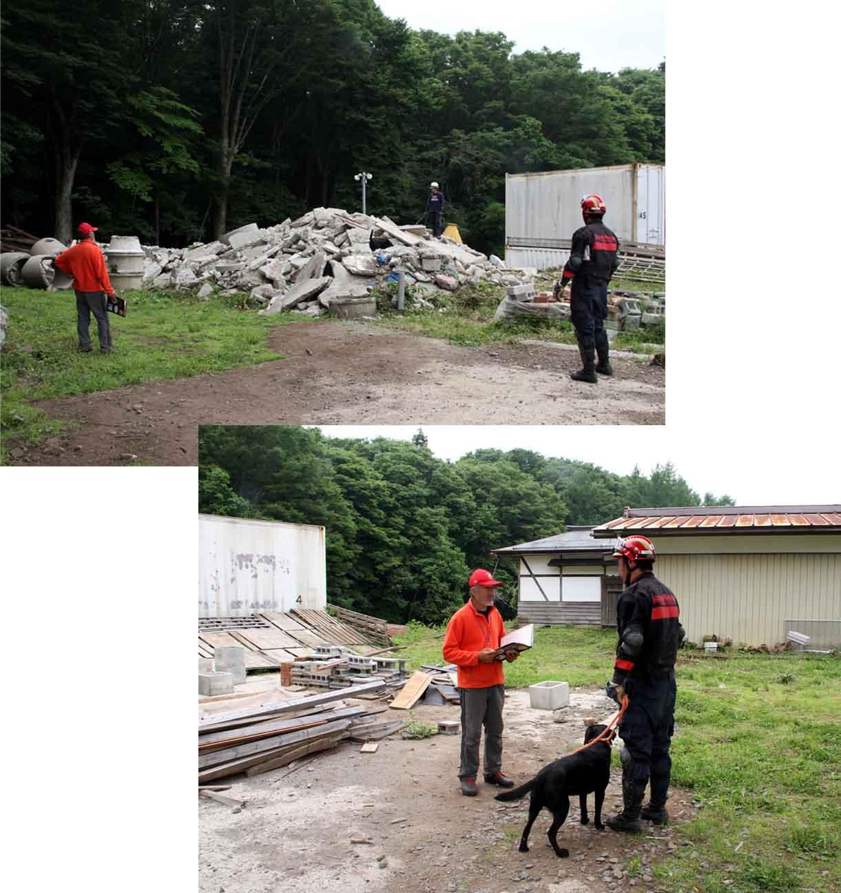 瓦礫訓練施設の中で(21)
